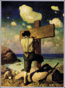 Illustrazione di N. C. Wyeth