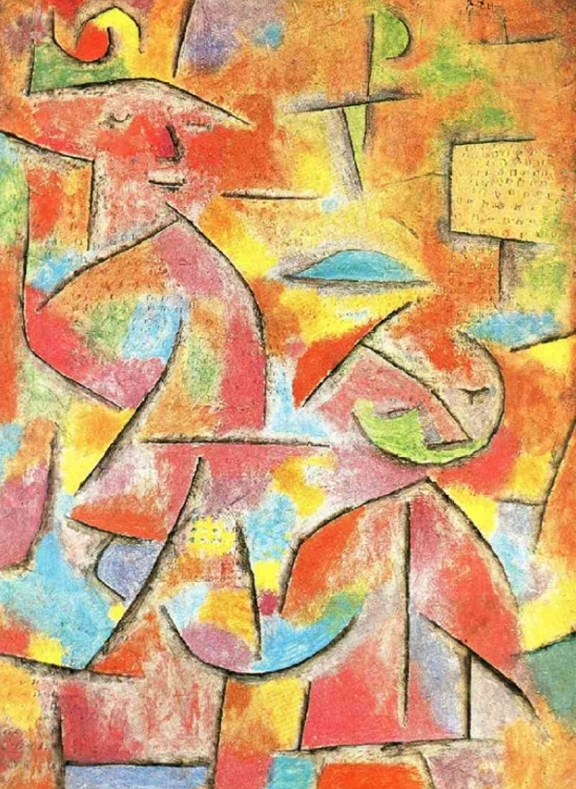 """Child and aunt"" di Paul Klee"