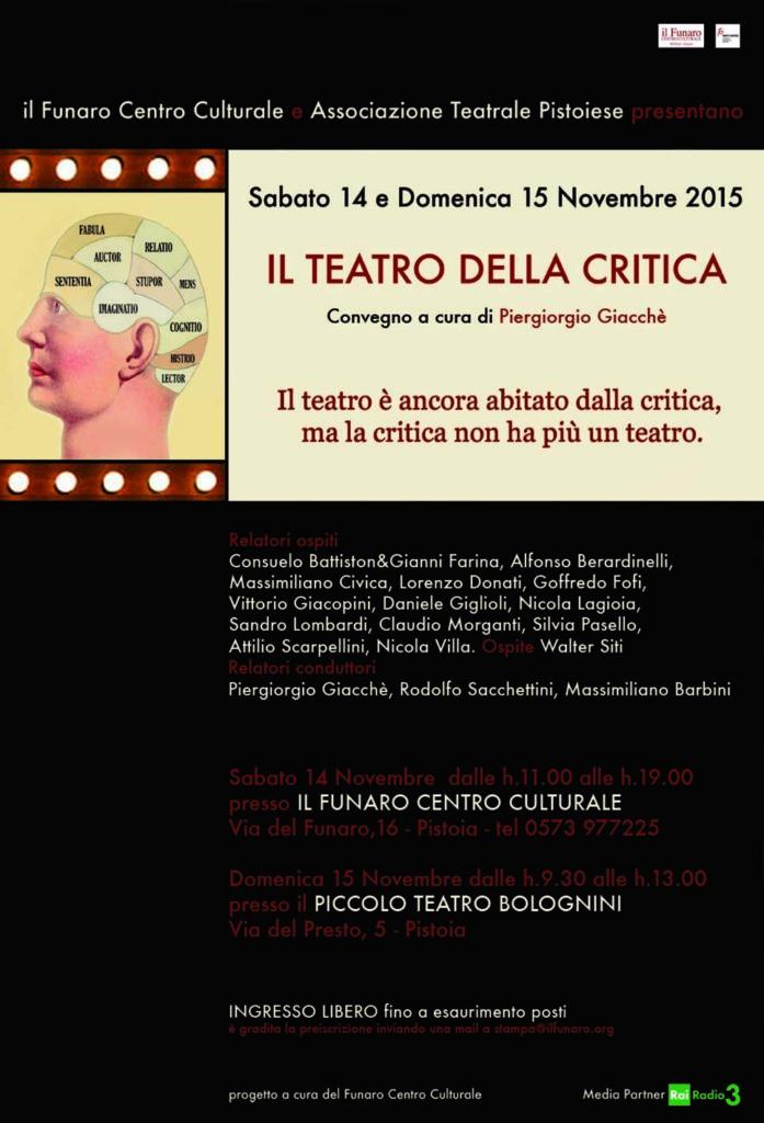Il teatro della critica Locandina ok