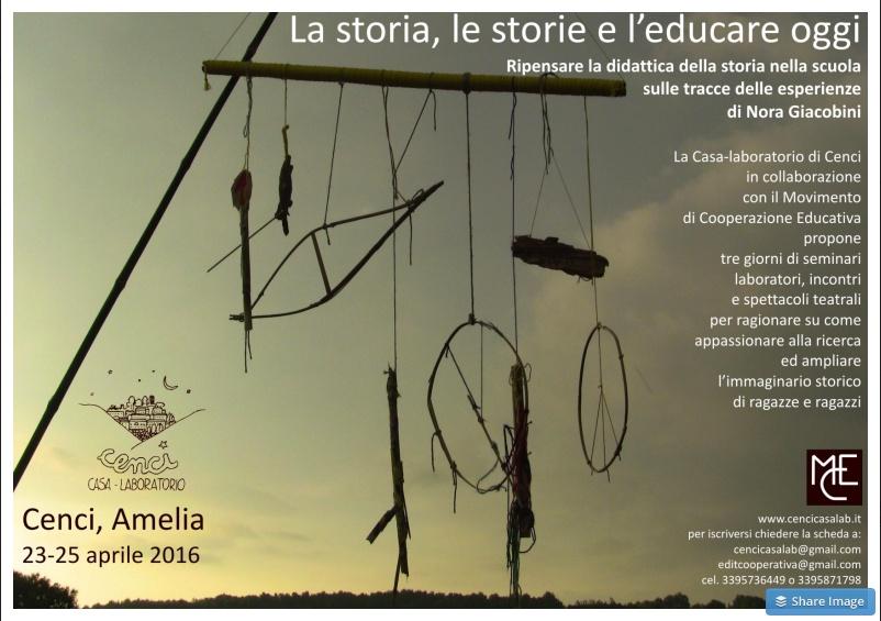 La storia, le storie e l-educare oggi - Cenci casa - laboratorio.clipular